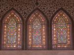 Stained-glass windows at Tabatabaei Historic House