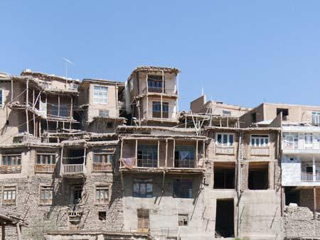 Houses of Kang village, a traditional stepped village