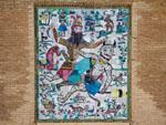 Mosaic of Rostam overcoming the Demon