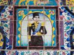 Mosaic tiles and paintings in Khalvat Karim Khani