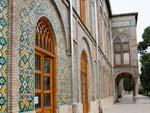 The mosaic exterior wall of Negar Khaneh