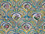 Beautiful mosaics found on the walls in Golestan Palace