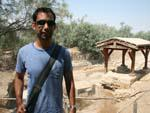 Baptism Site of Jesus - Travis with the baptism site in the background