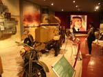 Royal Automobile Museum - Sonya in awe of the military vehicles