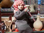 Souk Al-Mubarakiya Arabic figurine smoking Shisha