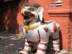 Snow lions guarding the entrance to Taleju Temple