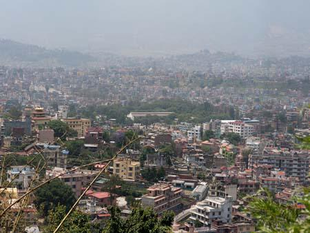 View of Kathmandu from the hill