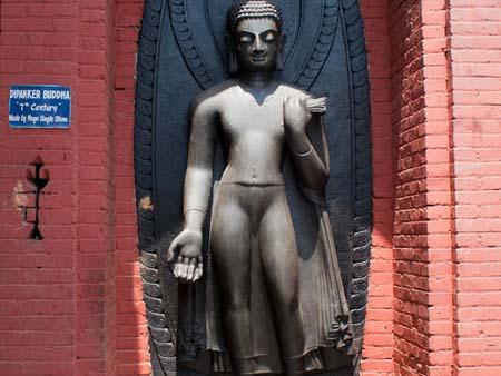 Stone statue of Dipanker Buddha