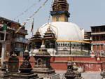 Shigha Bihar with Kathesimbhu Stupa and surrounding smaller stupas