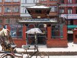 Sikha Narayan Temple with Rickshaw parked at the entrance