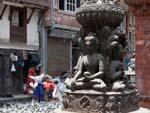 Buddha states outside the Seto Machhendranath Temple
