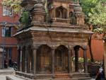 Stone temple in-between lush vegetation