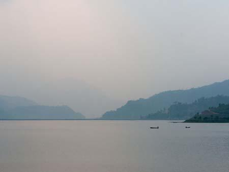 Lake Phewa Tal at sunset