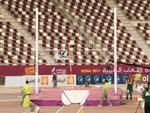 Qatari pole-vaulting