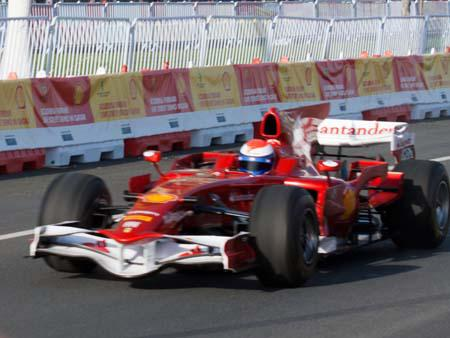 Scuderia Ferrari Formula One street demonstration