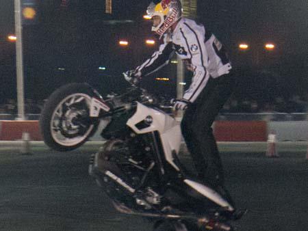 Streetbike freestyle rider Chris Pfeiffer