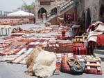 Drying linen in traditional Bedouin designs