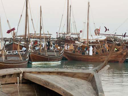 The many Dhows on display