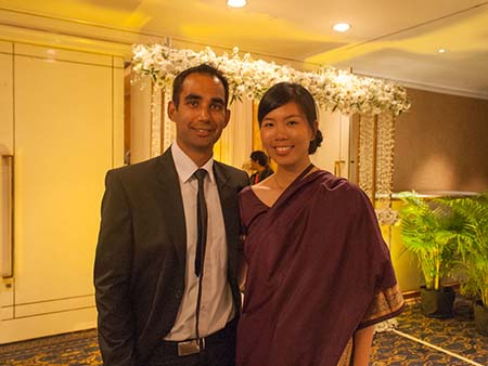 Travis and Sonya at the Sri Lanka wedding