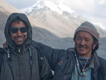 Travis and a Tibetan at Everest Base Camp