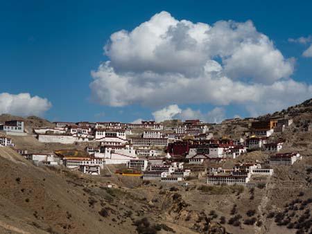 Full view of Ganden Monastery