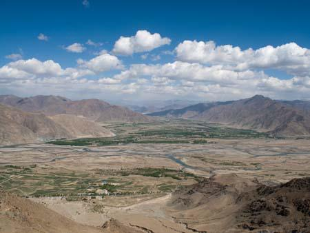 View of Kyi-chu valley from the Ganden Kora