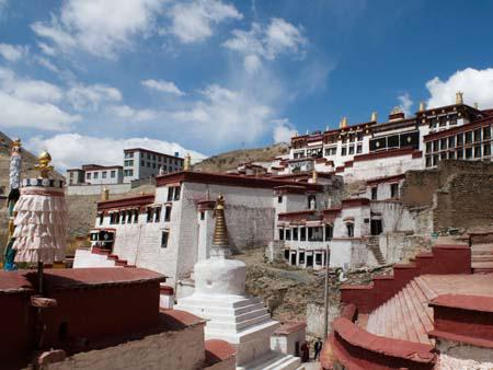 Ganden Monastery taken from the right side