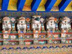 Mythical creatures on the door to the Palace of the 8th Dalai Lama (Kelsang Potrang)