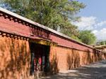 The exterior wall of the New Summer Palace (Takten Migyur Podrang)