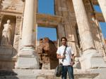 Travis and the Library of Celsus