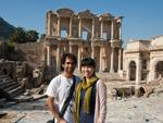 Travis and Sonya the Library of Celsus