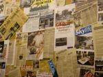 Collage of media clippings